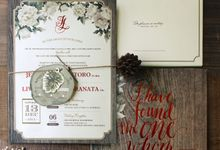 Jeremy & Livia Rustic Wedding by Bluebelle Invitations
