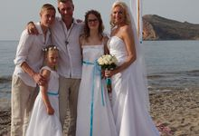 Beach wedding in Chania Crete by Gamos Crete