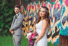 Vintage wedding with a modern edge by Tiara bridal artistry