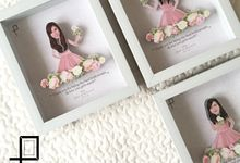 Hermin & Steffi Wedding Gifts for the Bridesmaids by Poptraits by Stella