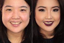 Glamorous - vamp look by Florencia Professional Make Up Artist