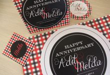 Black and Red Checker Partykit by 99% creative party