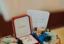 Wedding Ring Carrier with Preserved Flowers by Petal Co.