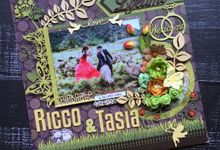 WEDDING SCRAPFRAME 30X30CM by DFLcraft