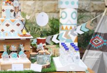 Little Indian Themed Birthday Party by Wonderee Decoration & Paper Goods
