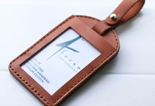 Leather ID or Luggage Tags by kertakes