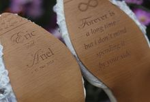 Engraving your name in you beautiful wedding shoes by Little L