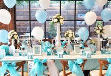 Tiffany & Co Theme Bridal Shower by THE CLORIS FLOWER