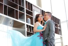 Andi & Heidi Pre-wed Photo Shoot at Double Tree Hotel by Hilton by Philip Toh Photography