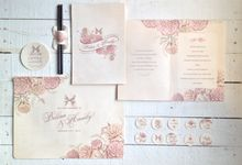 Belina & Handy's Engagement Stationary by La Voilla Invitation