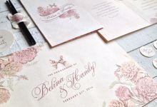 Belina & Handy's Engagement Stationary by La Voilla Invitation