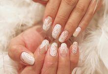 Bridal Nail Design by The Nail Status