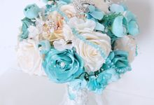 Coral Under The Sea in Mint and White Colors by Cup Of Love Design Studio