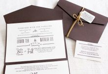 INVITATION - SIMPLY RUSTIC by The Bride and Butter