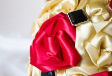 Golden Rose Bridal Brooch Bouquet by Marini Bouquets