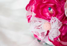 Amore Bridal Brooch Bouquet by Marini Bouquets