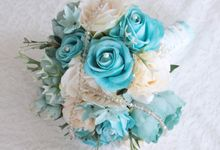Blue Wedding Bouquet Package by Cup Of Love Design Studio