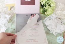 INVITATION - beautiful in pink by The Bride and Butter