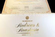 Andreas & Anastasia by Lotus Fifolifo Invitation
