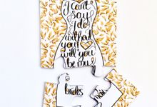 Bridesmaid Invite Puzzles by Shleigh's Décor