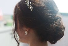Actual Day Bridal Makeup and Hairstyling (Joyce+ Lloyd) - Chic and Natural by Sylvia Koh Makeup and Hairstyling