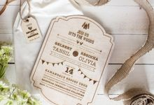 INVITATION - into the woods by The Bride and Butter