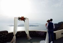 Cloudy wedding in Caldera by Santo weddings by mk