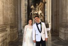 Dino and Anna Vatican wedding  by Richie Ortega-Torres