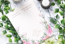 Anton and Cindy Wedding Invitation by INK Design & Printing