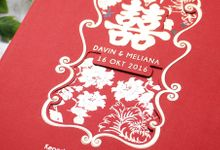 Davin and Meliana Wedding Invitation by INK Design & Printing