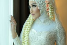 Kebaya Akad & Resepsi Turquoise - Mutia & Vando by LAKSMI 0817 0370 7670 by LAKSMI - Kebaya Muslimah & Islamic Bride