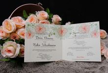 Dora & Fieko wedding invitation by Buna Project