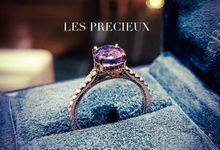 BI COLOR CHANGE SAPPHIRE ROSE GOLD ENGAGEMENT RING by LES PRECIEUX
