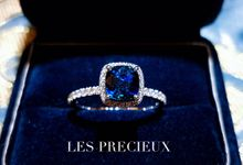 PEACOCK BLUE SAPPHIRE ENGAGEMENT RING by LES PRECIEUX