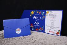 Aprisa & LUTFI wedding invitation by Buna Project