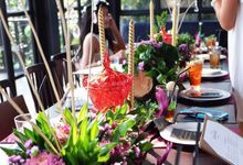 Small wedding and bachelorette party by Iris Florist by Melissa