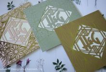 Watercolor & Foil Stamping wedding invitation by Invitation designs by kenneth uy