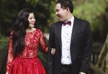 Custom Red Prewedding Dress by Priska Henata