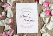 Paul & Marsha Wedding Invitation by Paperstory