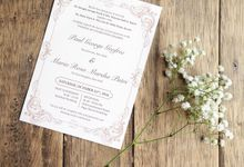 Paul & Marsha Wedding Invitation by Paperstory