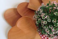 Wooden Love Tray Plate by La Dame in Wood