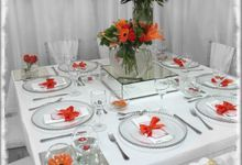 Minimalist Orange Wedding by ZC Events