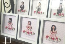 Vincent & Nadya Wedding Gifts for the Bridesmaids and Bestmen by Poptraits by Stella