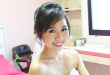 AD for Joanne and SK - Elegant and Sweet Romantic Bridal Looks by Sylvia Koh Makeup and Hairstyling