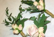 Wedding Bouquet - Romantic in Rustic by Blooming Tale