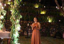 The Wedding of Lawrence and Grandia by MC Nirmala Trisna