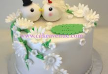Single tier Customised Wedding Cakes by Cake Avenue