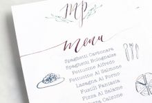 Dinner Menu by Meilifluous Calligraphy & Design