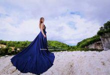 Navy Blue Long Dress by Bali DressCode Safari & Photography