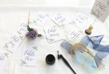 Calligraphy Table Numbers by Meilifluous Calligraphy & Design